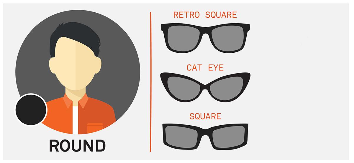 ochelari de soare forma fetei rotunda