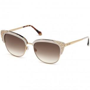 Ochelari de soare Roberto Cavalli WEZN RC1014 25F IVORY
